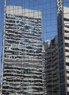 Reflecting Buildings In Calgary Stock Photography