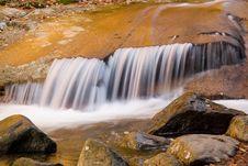 Free Smooth Rock Falls (closer) Royalty Free Stock Photo - 1418835