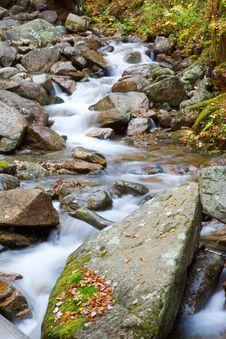 Free Mountain Stream Through Rocks Stock Image - 1418881