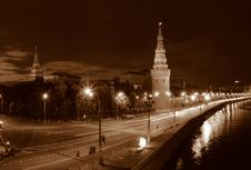 Free Night Moscow. Stock Image - 1419431