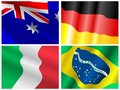 Free Collection Of Waiving Flags Royalty Free Stock Image - 14108386