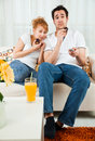 Free Beauty Girl And A Handsome Boy Eating Cake Stock Image - 14109871