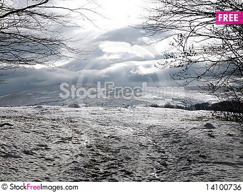 Free Winter At The Mountains Royalty Free Stock Image - 14100736