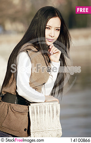 Free Girl Thinking Outdoors Royalty Free Stock Image - 14100866