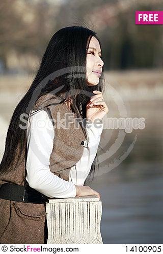 Free Girl Enjoying Scenery Royalty Free Stock Photo - 14100905