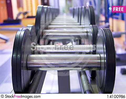 Free Weights Royalty Free Stock Image - 14100986