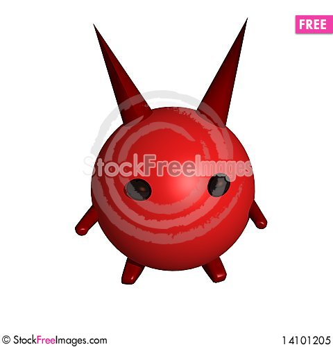 Free Devil With A Horns Royalty Free Stock Photo - 14101205