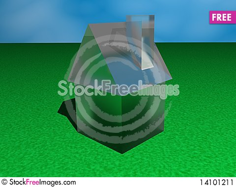 Free Glass House On A Lawn Stock Image - 14101211