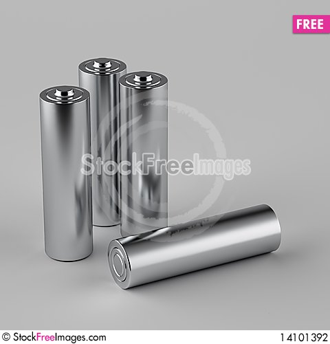 Free AA Batteries Stock Photography - 14101392