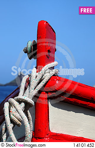Free Prow Of Fishing Boat Stock Photography - 14101452