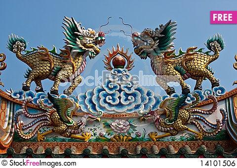 Free Chinese Lion Royalty Free Stock Image - 14101506
