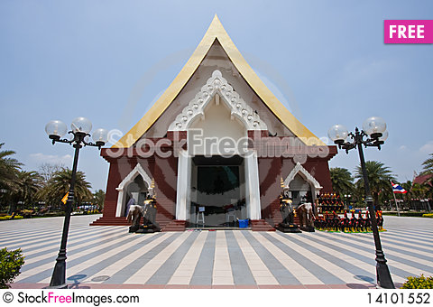 Free The Shrine Of King Naret The Great Of Thailand Stock Photography - 14101552