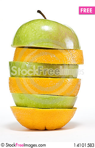 Free Apple And Orange Stock Photos - 14101583