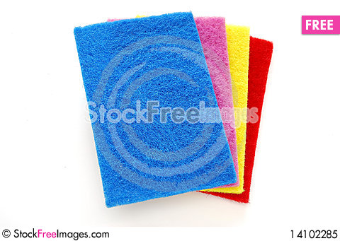 Free Colorful Cleaning Sponges Royalty Free Stock Photo - 14102285