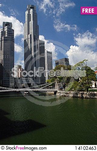 Free Cavanagh Bridge In Singapore Stock Photos - 14102463