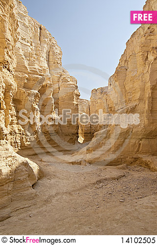 Free The Perazim Canyon. Royalty Free Stock Photo - 14102505
