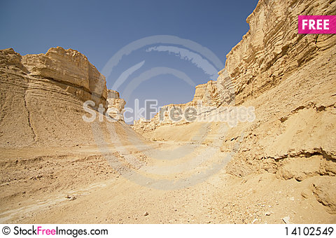 Free The Perazim Canyon. Royalty Free Stock Images - 14102549