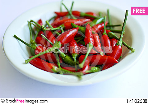 Free Red Hot Chillies Royalty Free Stock Photos - 14102638