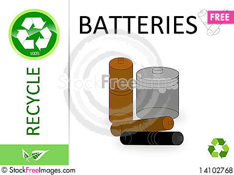 Free Please Recycle Battery Royalty Free Stock Photos - 14102768