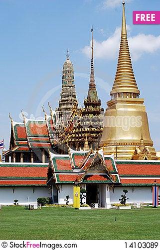Free Wat Phra Kaeo Royalty Free Stock Images - 14103089