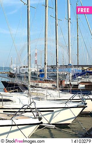 Free Sailing Harbor At Lake Balaton Royalty Free Stock Images - 14103279