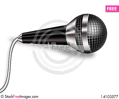 Free Microphone. Monochrome. Royalty Free Stock Photography - 14103577