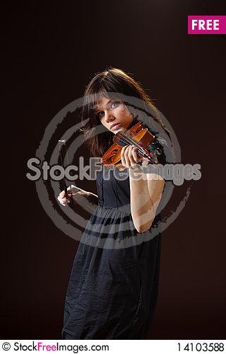 Free Violinist Royalty Free Stock Photos - 14103588