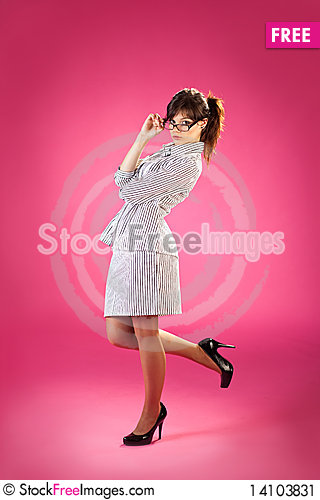 Free Girl With A Lollipop Stock Image - 14103831