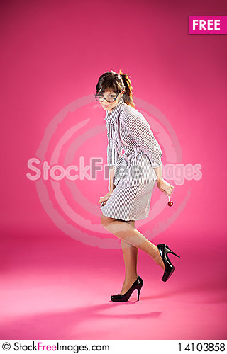 Free Girl With A Lollipop Royalty Free Stock Photos - 14103858