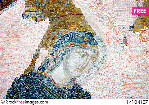 Free A Mosaic Showing The Virgin Mary Royalty Free Stock Photography - 14104127