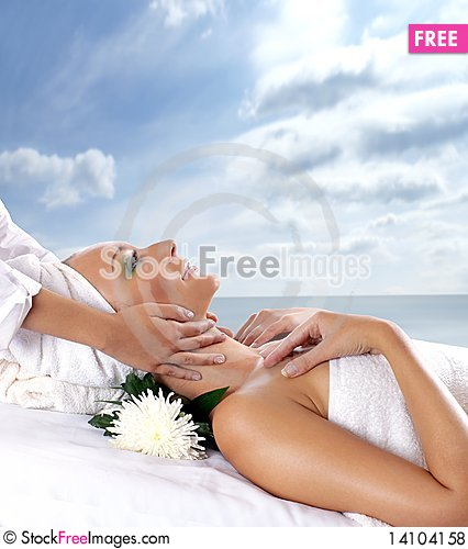 Free An Attractive Woman Is Getting Spa Treatment Royalty Free Stock Photos - 14104158