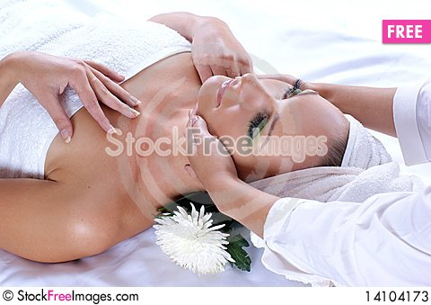 Free An Attractive Woman Is Getting Spa Treatment Stock Photos - 14104173