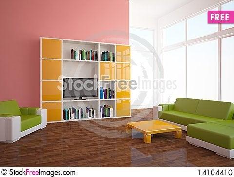 Free Colored Interior Stock Photo - 14104410