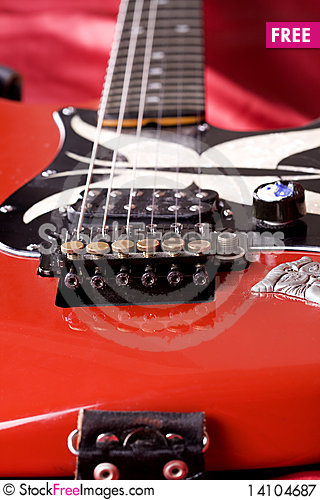 Free Guitar Close-up Royalty Free Stock Photography - 14104687