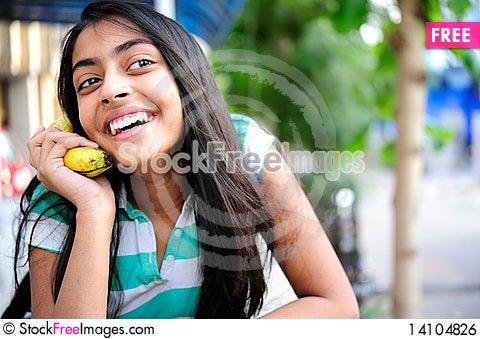 Free Girl Expressing Enjoyment Royalty Free Stock Image - 14104826