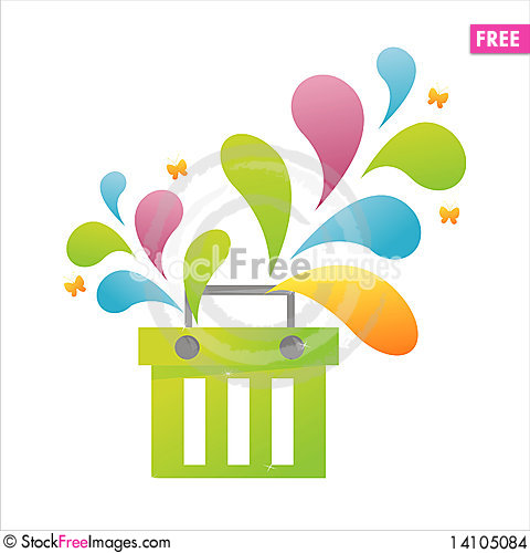Free Colorful Basket Stock Images - 14105084