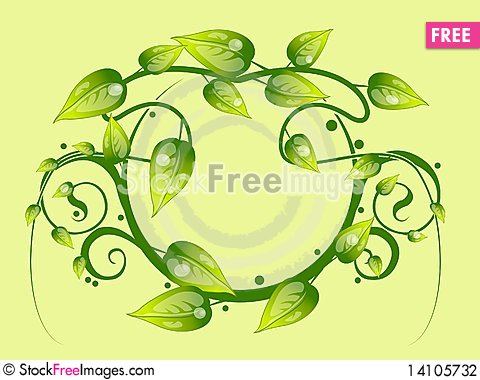 Free Floral Frame Stock Photography - 14105732