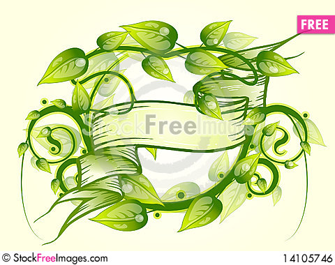 Free Floral Frame Banner Royalty Free Stock Image - 14105746