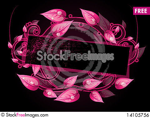 Free Floral Frame Royalty Free Stock Image - 14105756