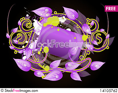 Free Floral Frame Banner Stock Photography - 14105762