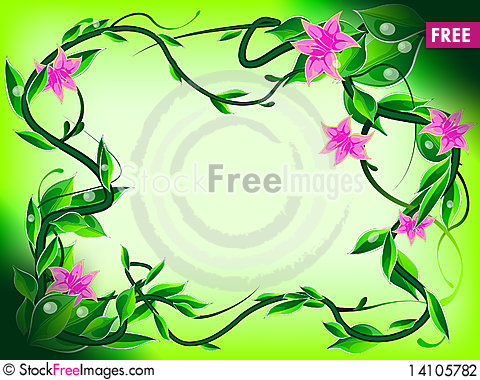 Free Floral Frame Stock Photography - 14105782
