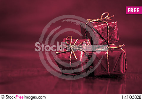 Free Three Little Gifts Royalty Free Stock Photos - 14105828