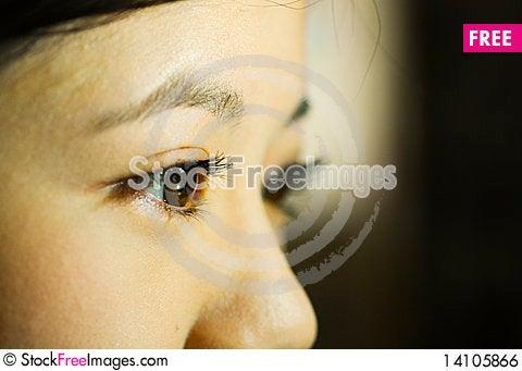 Free Behind Blue Eyes Royalty Free Stock Image - 14105866