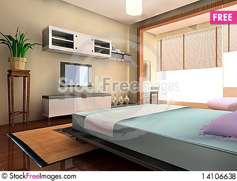 Free Bedroom Royalty Free Stock Photos - 14106638