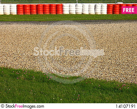 Free Run-off Area On A Race Course Stock Image - 14107191