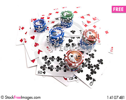 Free Cards With Chips Stock Image - 14107481