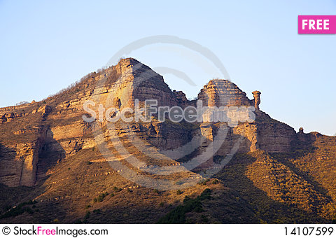 Free Red Sandstone Topography Royalty Free Stock Images - 14107599
