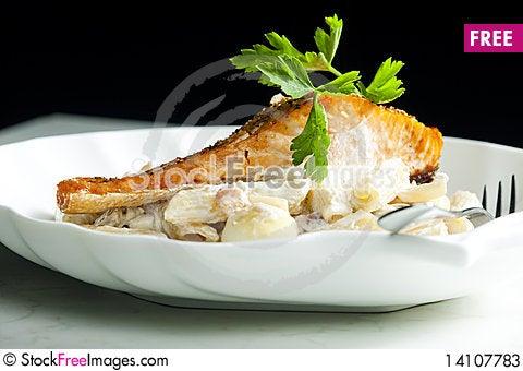 Free Baked Salmon Stock Photos - 14107783