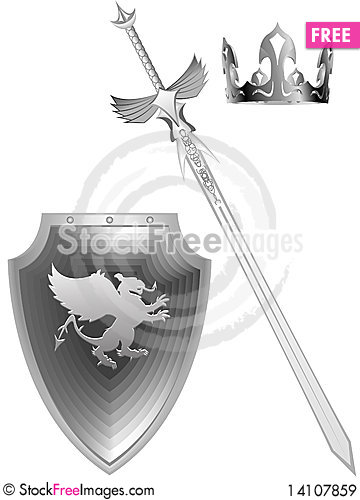 Free Knightly Fantasy Sword Royalty Free Stock Images - 14107859