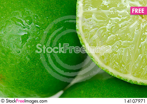 Free Lime Background Close Up Stock Image - 14107971